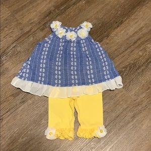 Little Lass Matching Outfit-Never worn Sz 6/9month
